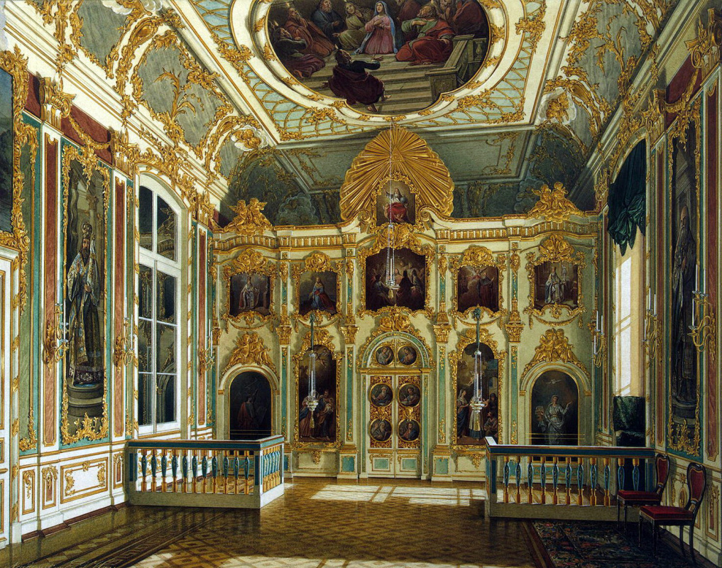 View of the Small Church of the Winter Palace by Edward Petrovich