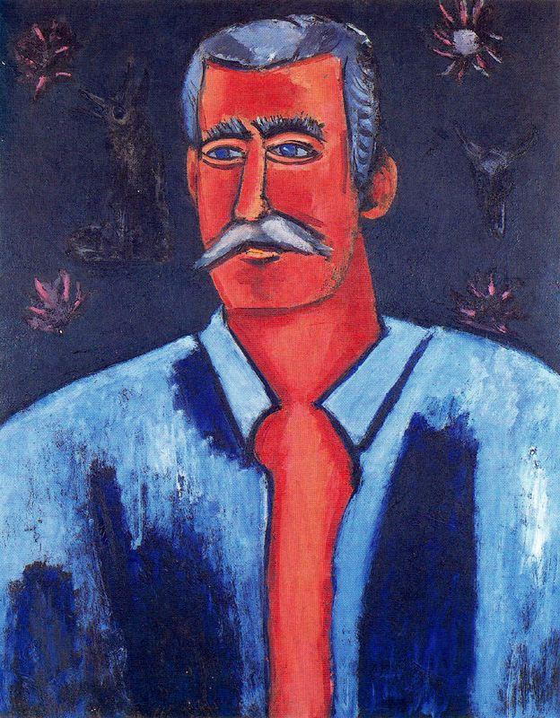Marsden Hartley. A man with a mustache
