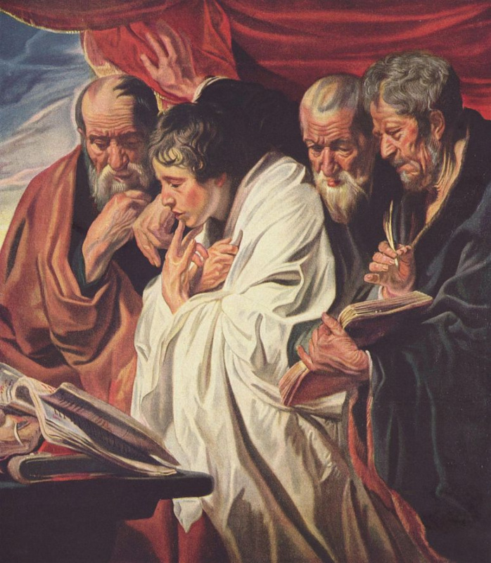 Якоб Йорданс. Четыре Евангелиста