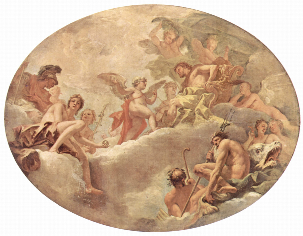 Sebastiano Ricci. A series of paintings for the Burlington house in London. Cupid before Jupiter