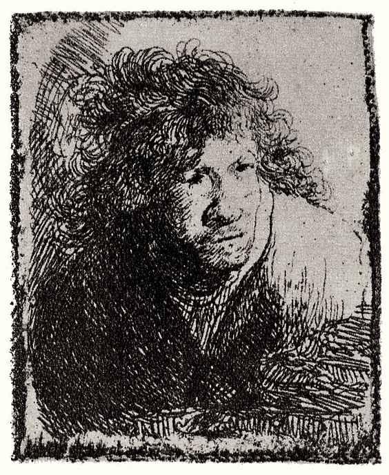 Рембрандт Ван Рейн. Автопортрет в позе поджидающего