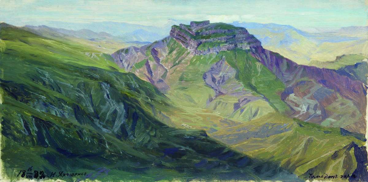 Nikolay Aleksandrovich Yaroshenko. Suitcase Mountain Dagestan. 1888