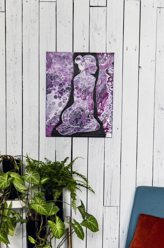 "Natalia Nikolaevna Leontyeva. The painting ""Confusion"""