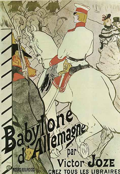 "Анри де Тулуз-Лотрек. Плакат-реклама книги ""Германский Вавилон"""