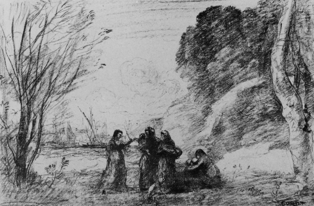 Camille Corot. Family in Terracina