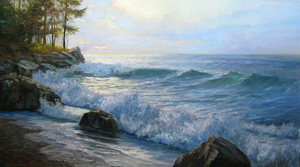 Andrei Vladimirovich Bryansky. Cold water of lake Baikal