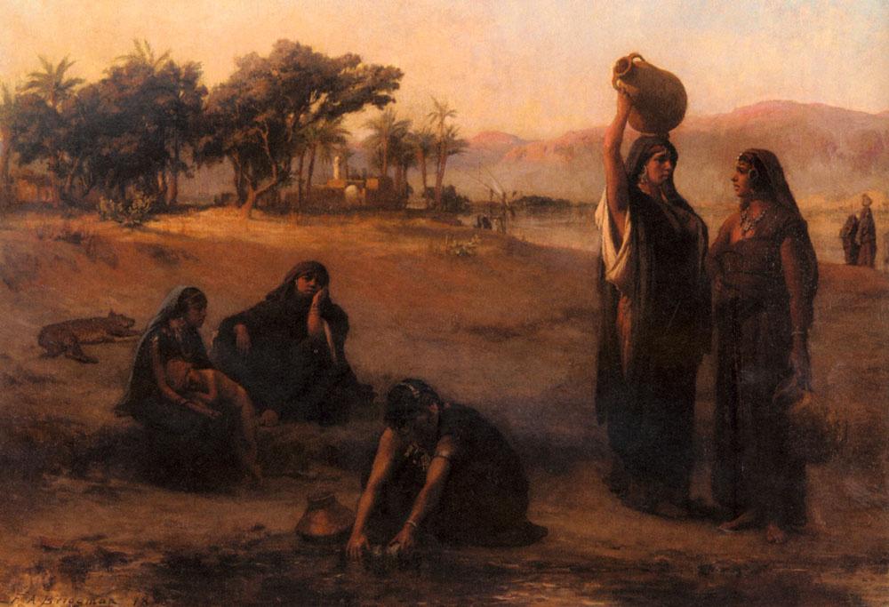 Фредерик Артур Бриджмен. Женщины берут воду из Нила