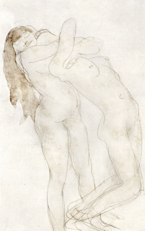 Огюст Роден. Две обнаженные