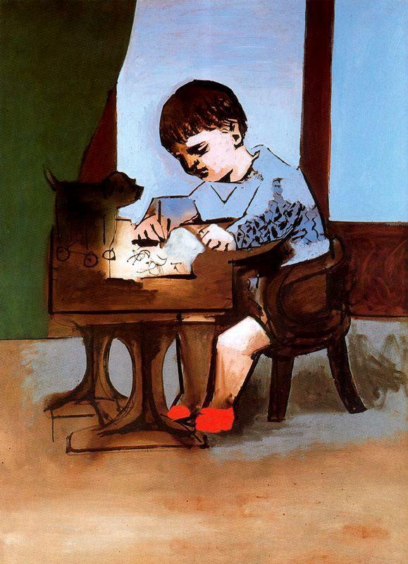 Пабло Пикассо. Рисующий Пауло