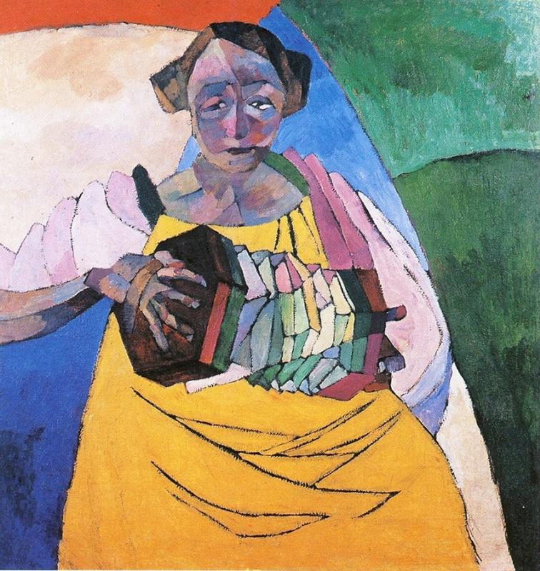 Aristarkh Lentulov. A woman with a harmonica