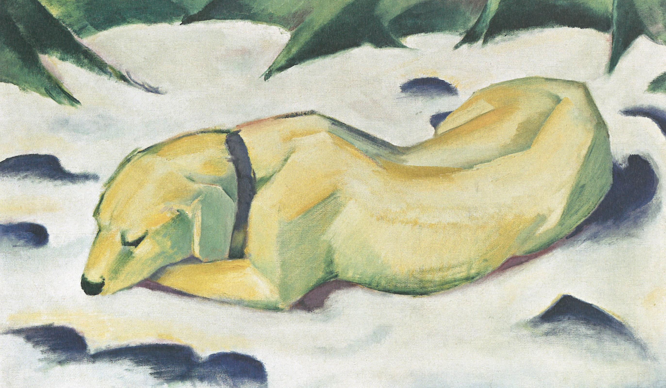 Franz Mark. Dog in the snow