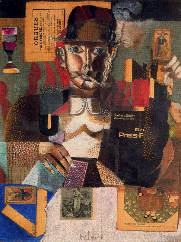 Франко Джентилини. Мужчина в кепке с сигаретой