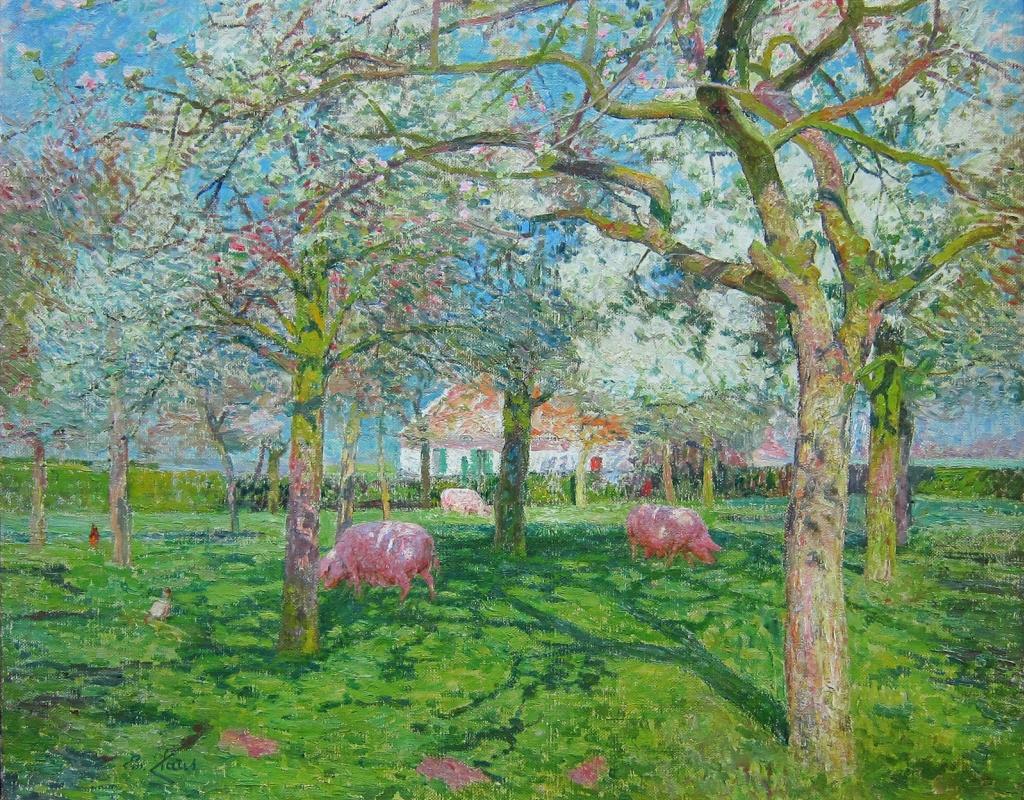 Emil Klaus. Orchard in spring