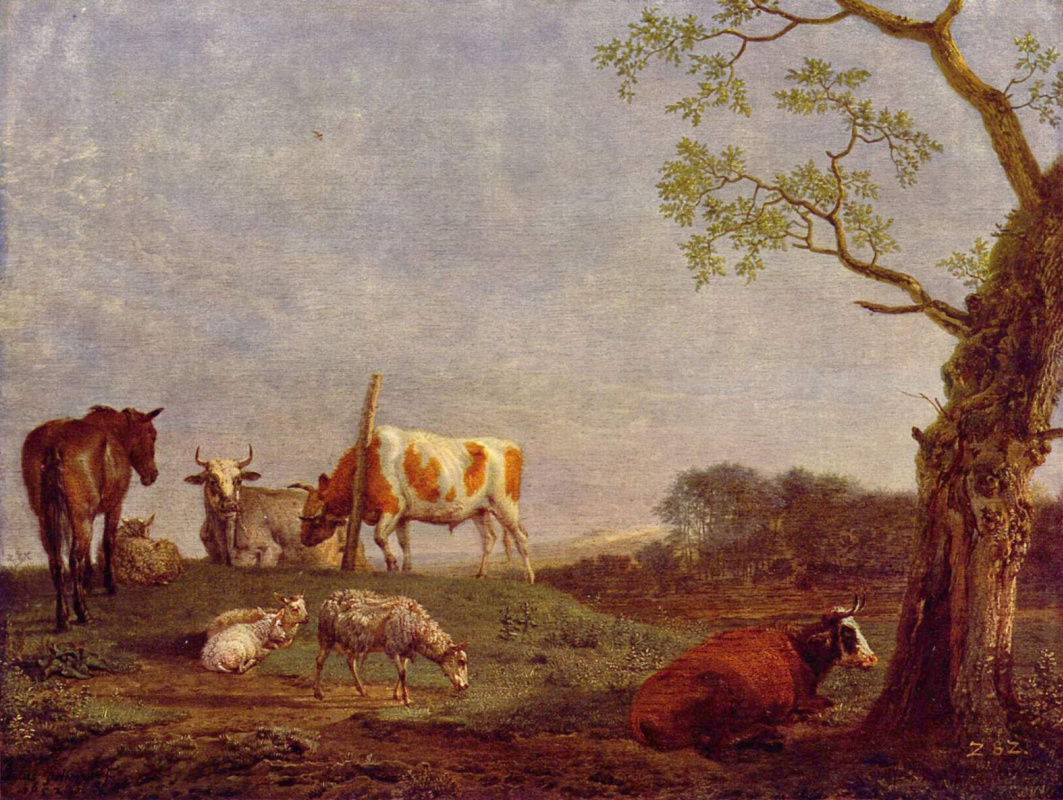 Paulus Potter. A resting herd
