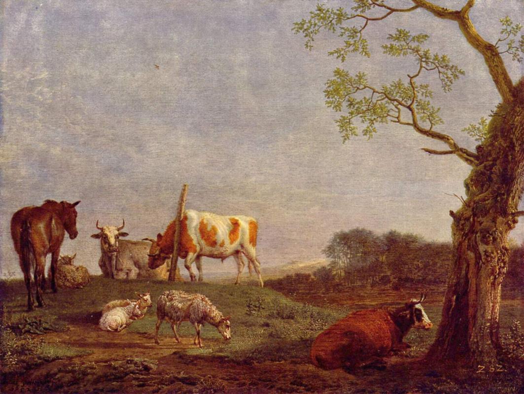 Paulus Potter. A resting herd