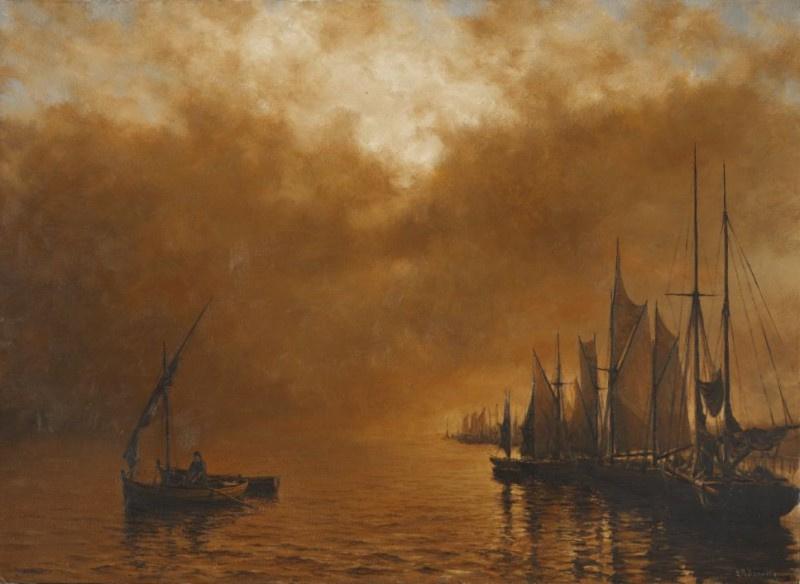 Valentin Revelioti. The plot in golden tones