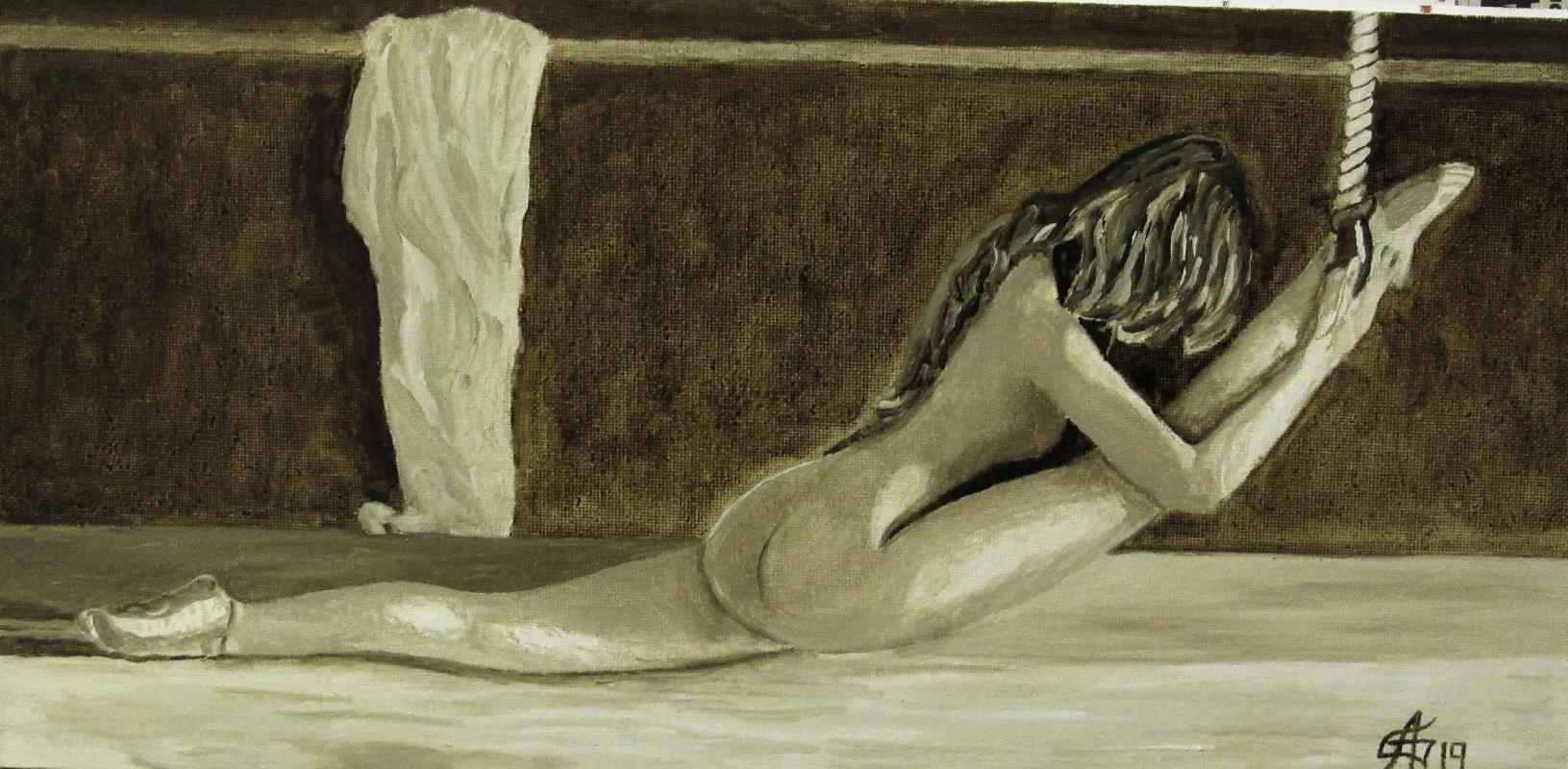 Artashes Badalyan. Twine (in tones of natural umber) - x-hardboard-m - 20x40