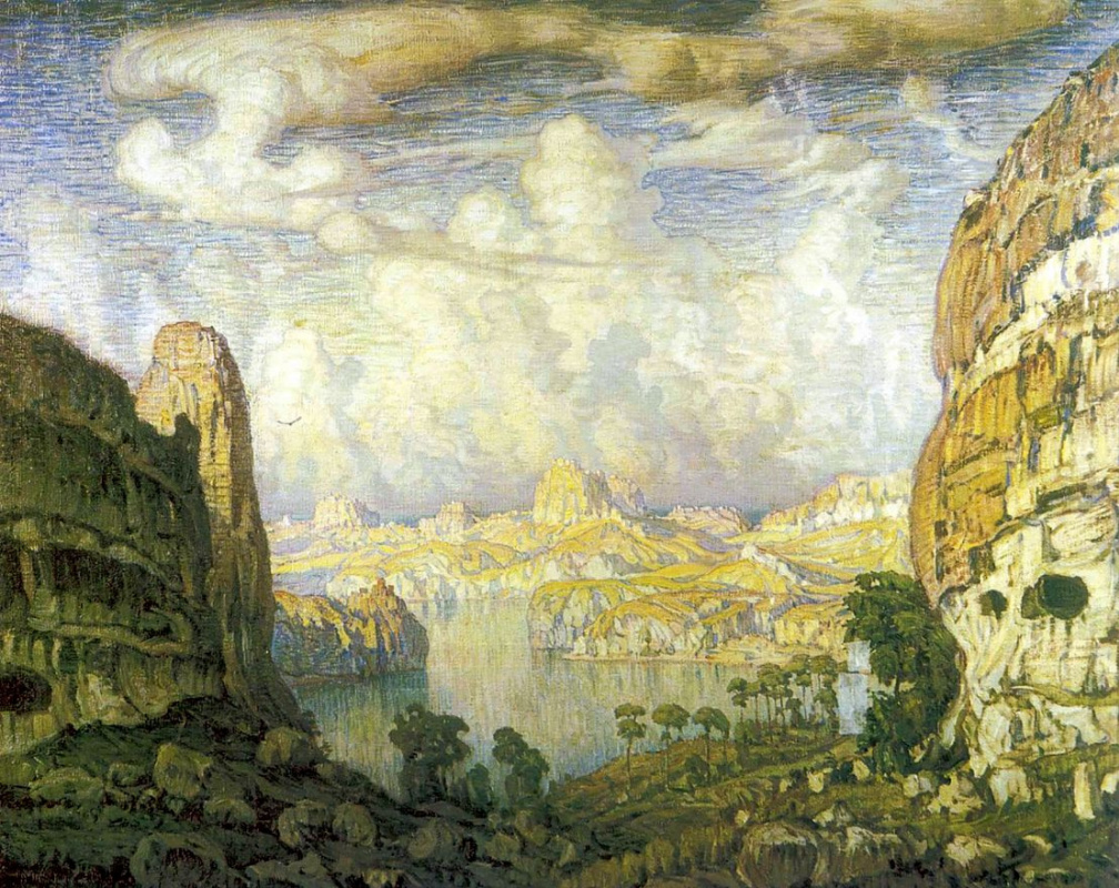 Konstantin Fedorovich Bogaevsky. The southern country. Cave city