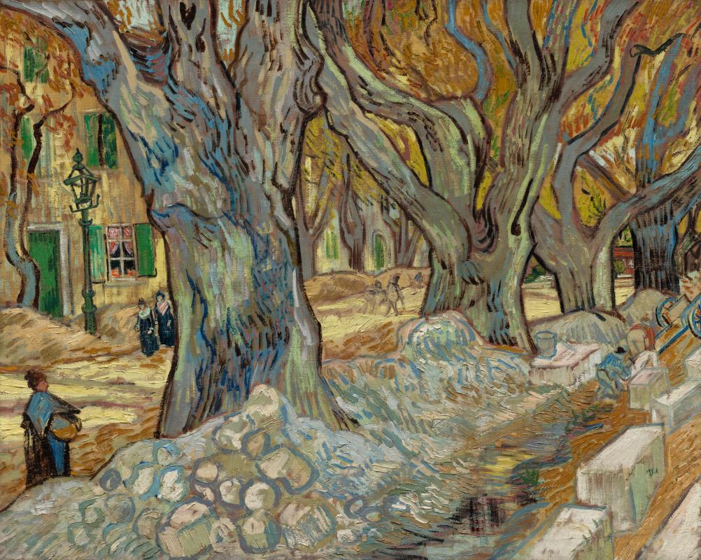 Vincent van Gogh. Large plane trees (Road workers in Saint-Rémy)