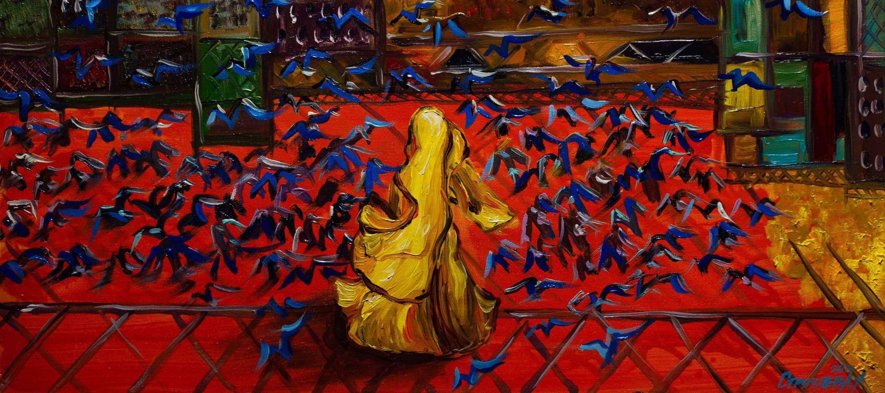 """Alla Struchayeva. Painting """"Going"""""""