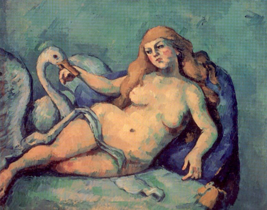 Paul Cezanne. Leda and the Swan