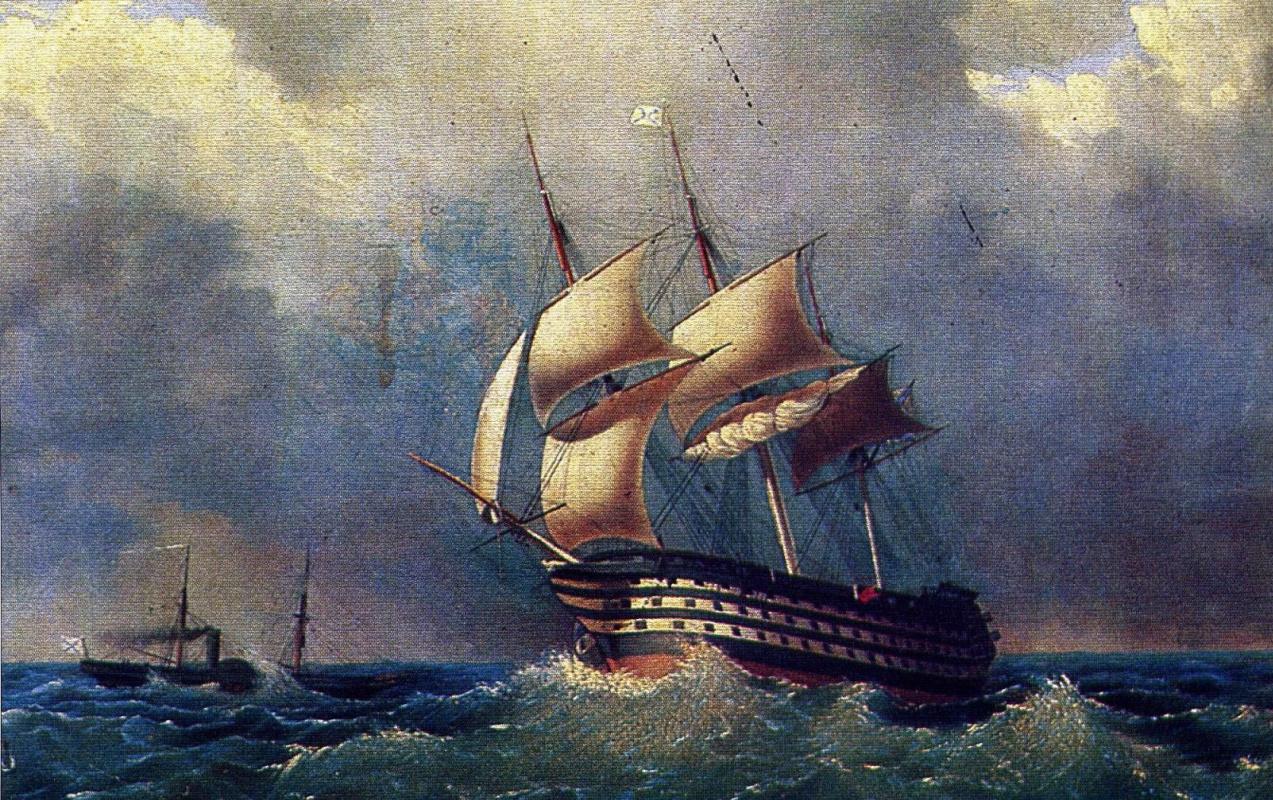 "Ivan Aivazovsky. Black sea 120-gun battleship ""Paris"""