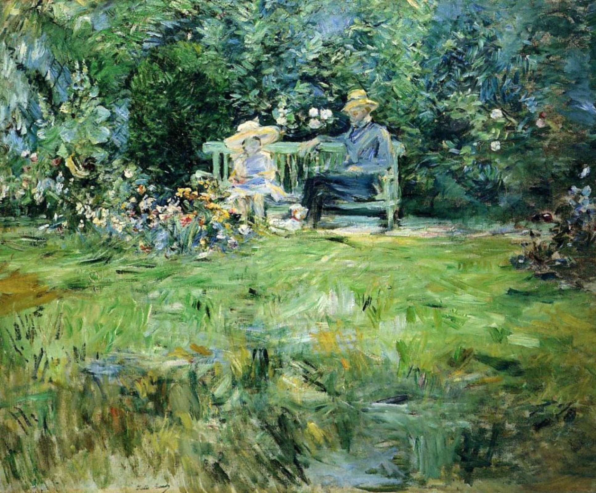 Berthe Morisot. The lesson in the garden