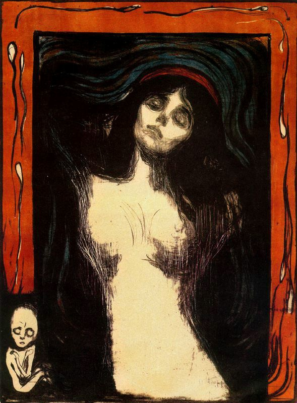 Edward Munch. Madonna