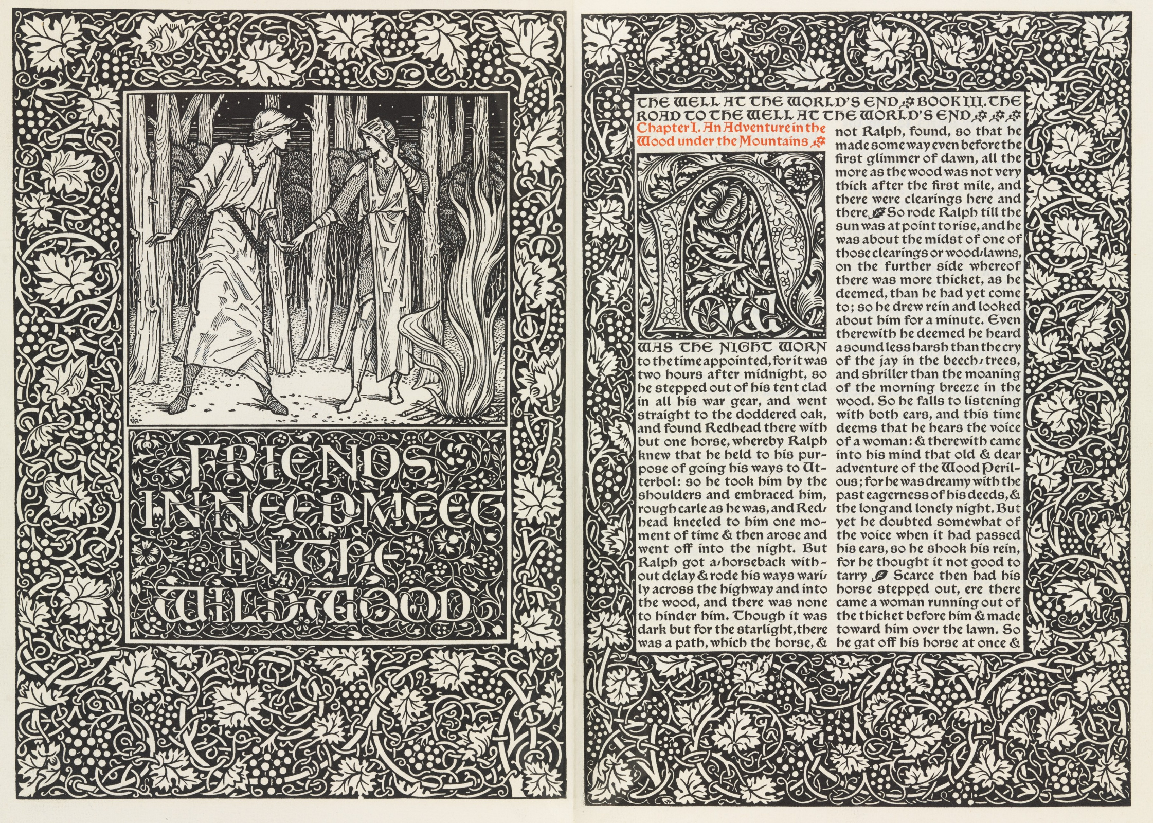 William Morris.  Presse Kelmskott.  Bien au bout du monde
