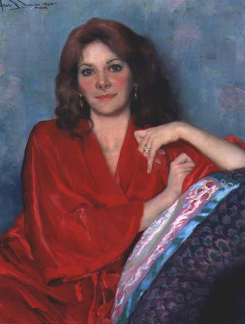 Аллан Бэнкс. Женщина в красном платье