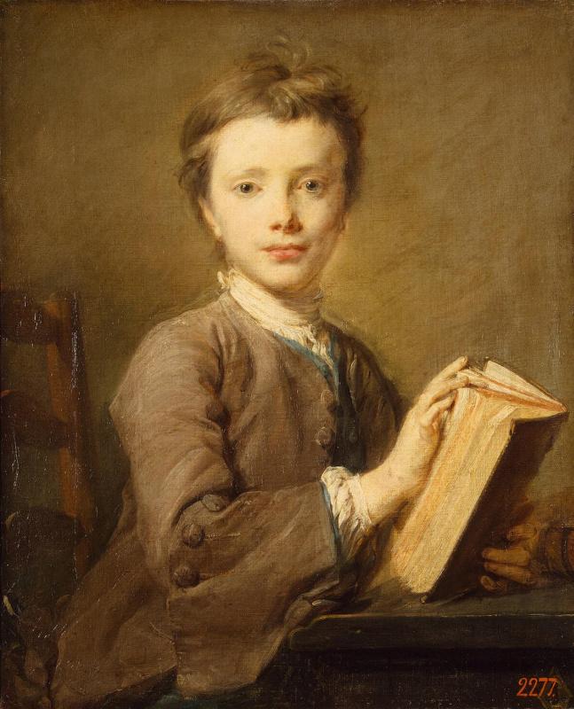 Жан-Батист Перронно. Портрет мальчика с книгой
