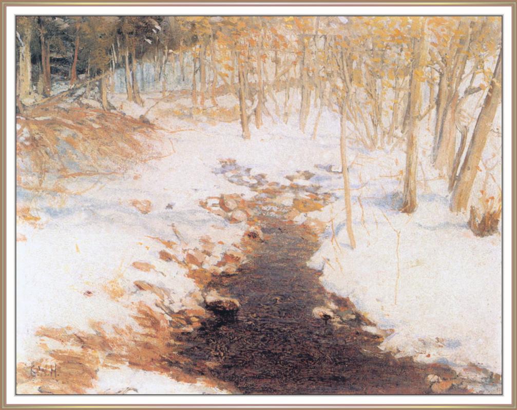 Georg Harvey. Winter landscape