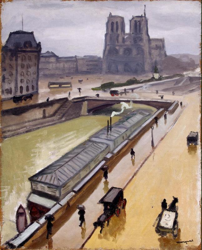 Альбер Марке. Дождливый день в Париже. Собор Парижской Богоматери