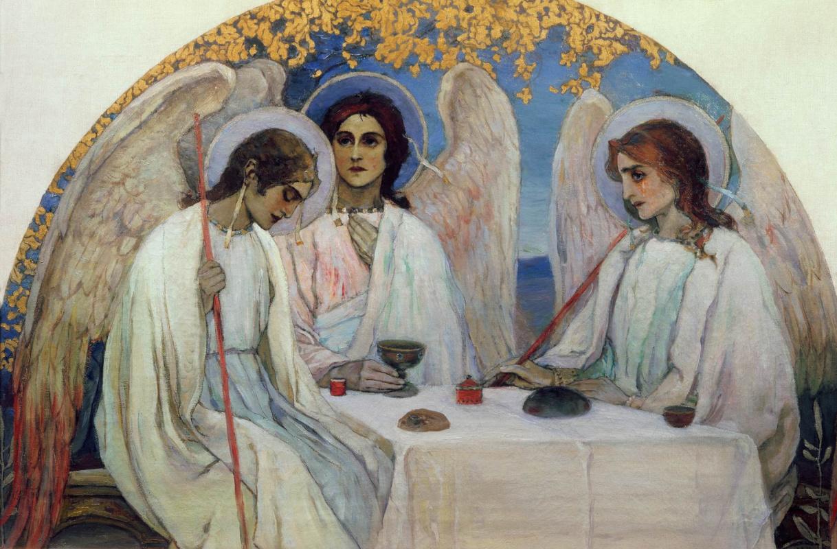 Mikhail Vasilyevich Nesterov. The Old Testament Trinity. The original mosaics of the iconostasis of the Church of the Resurrection