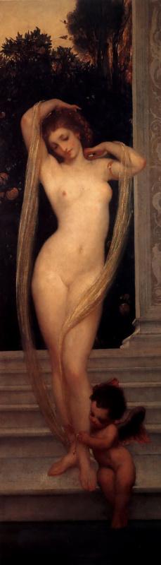 Сэр Фредерик Лейтон. Венера и Купидон (Купальщица)