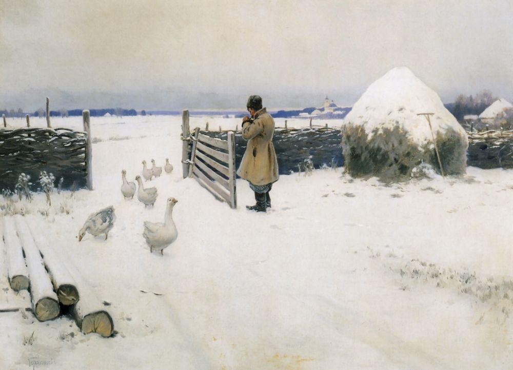 комплекс снег у русских художников девушка