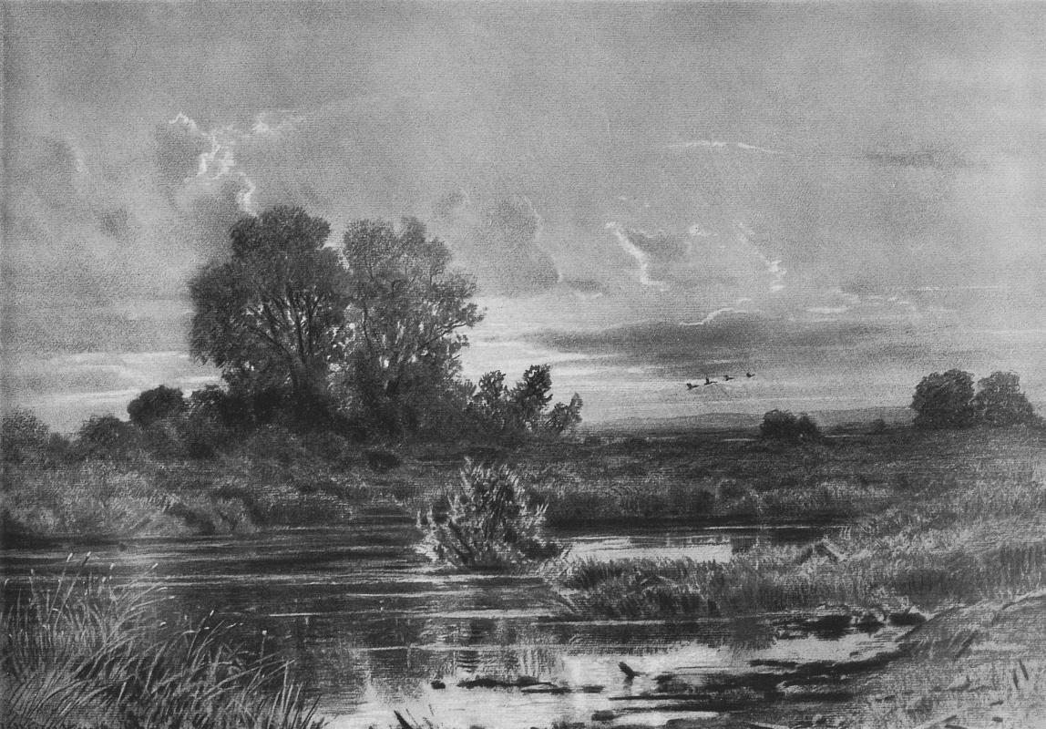 Ivan Shishkin. Overgrown pond