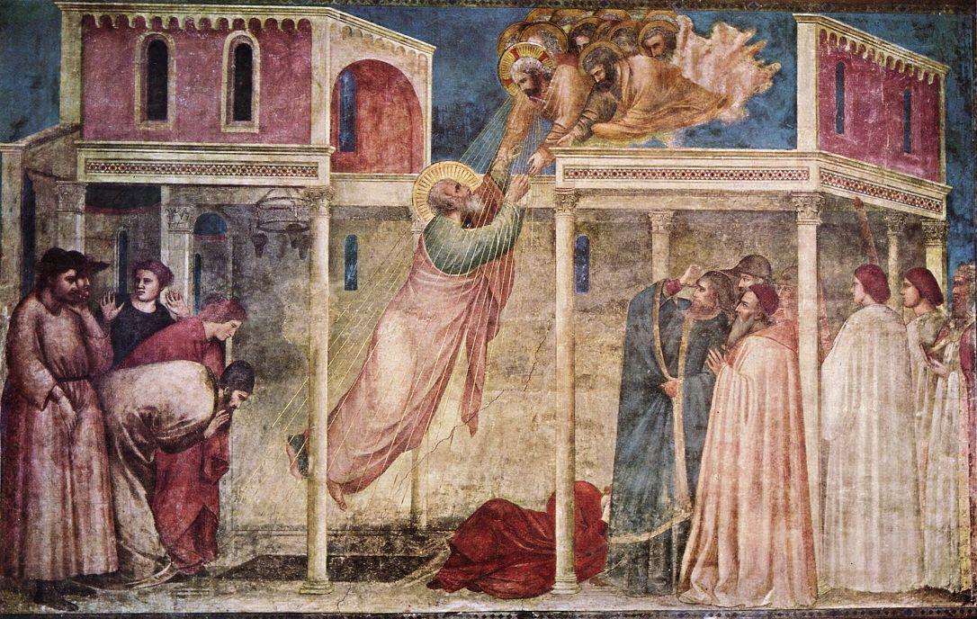 Джотто ди Бондоне. Вознесение Иоанна Евангелиста