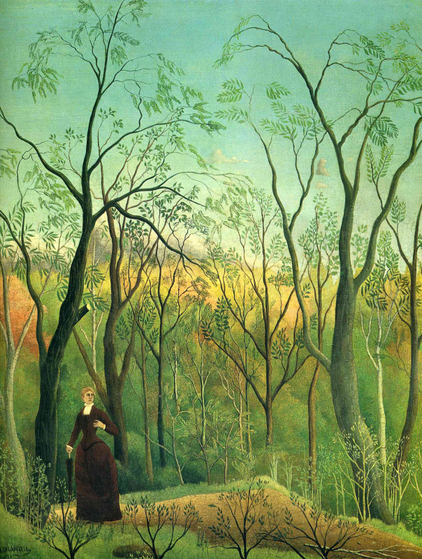 Henri Rousseau. Walk in the woods