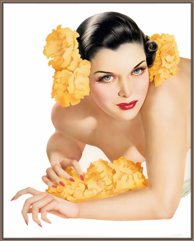 Желтые цветы в волосах