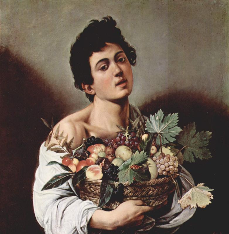 Микеланджело Меризи де Караваджо. Мальчик с корзиной фруктов