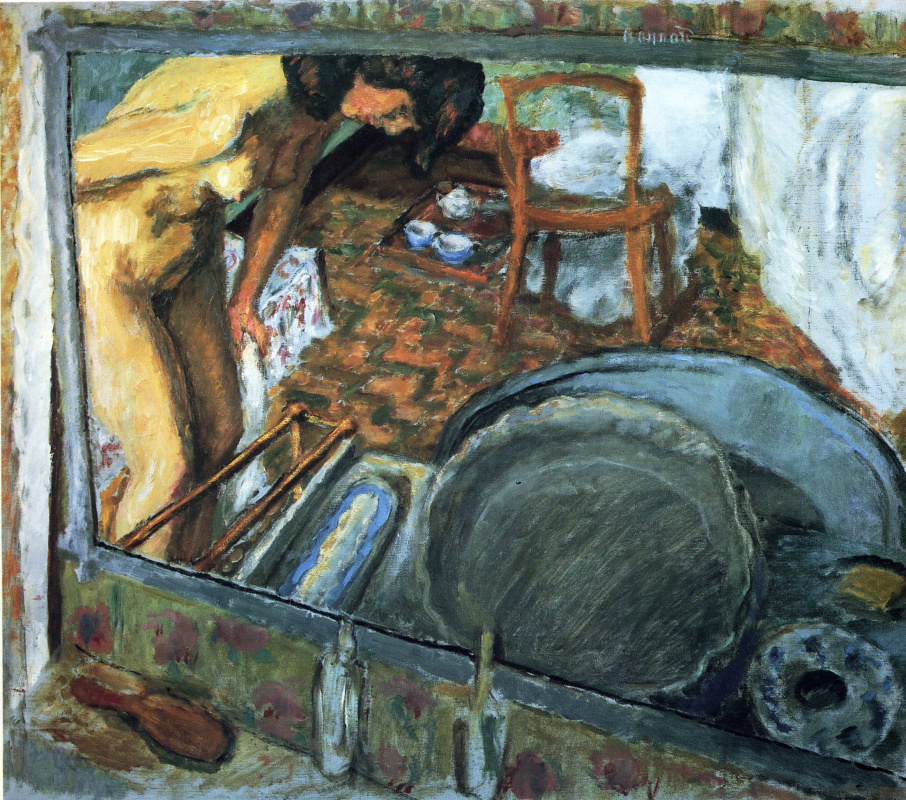 Pierre Bonnard. The effect of the mirror (or the Bathroom)