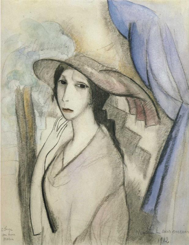 Мари Лорансен. Автопортрет карандашом