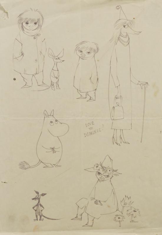 Туве Янссон. Муми-персонажи. Эскиз