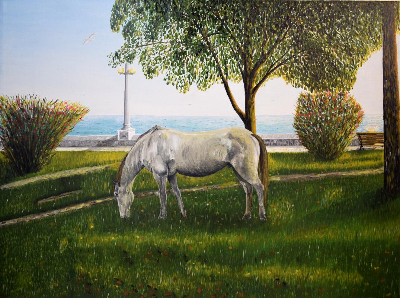 Arnold Gerontidi. Old horse and sea
