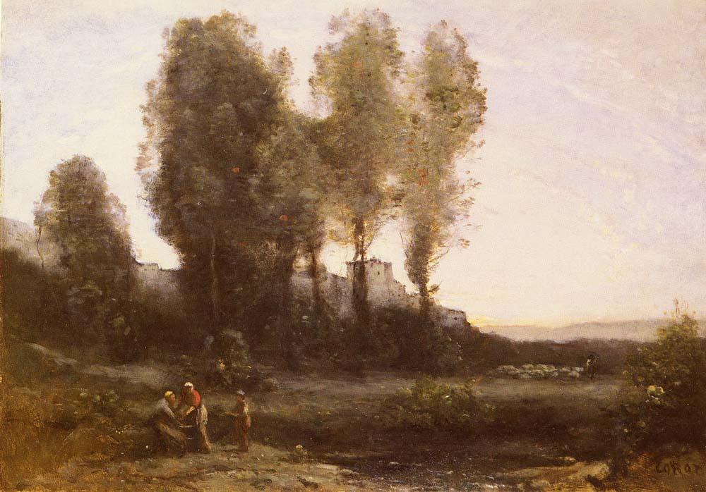 Камиль Коро. Монастырь за деревьями