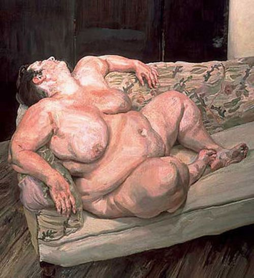 Lucien Freud. Sleeping Social Worker II