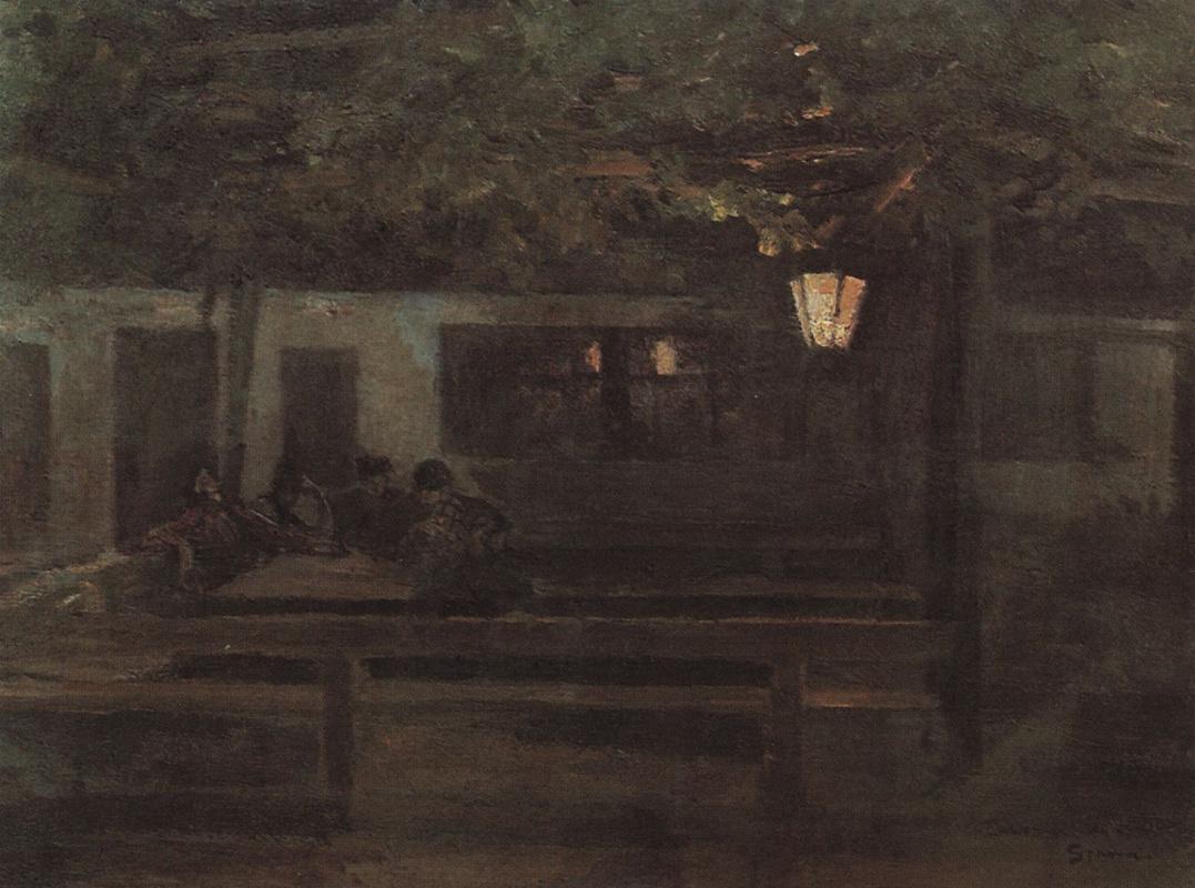 Константин Алексеевич Коровин. В испанской таверне