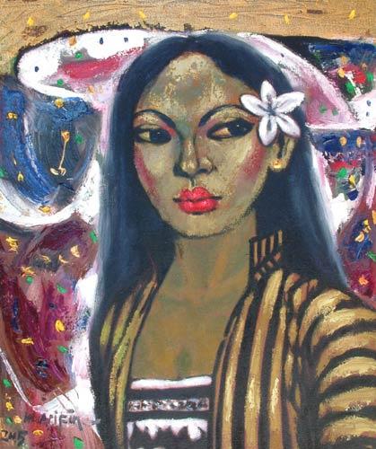 Мухаммед Арифин. Белый цветок в волосах