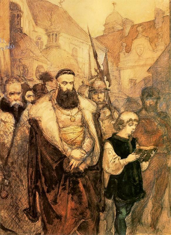 Ян Матейко. Самуила Зборовского провожают на казнь